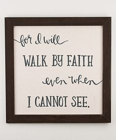 Another great find on #zulily! 'Walk By Faith' Cloth Board #zulilyfinds
