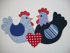 chicken pair applique (photo only)...what oh what will I feel inclined to put these on?  Humph!  Love them!!!