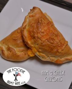 """Ham & Cheese Calzones are a simple way to put some of that holiday ham to great use. The calzones are delicious and portable! I make variations of these for occasions where we need """"food to go""""..."""