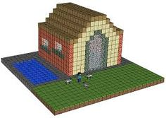 Minecraft farm house good to keep all of your goods in
