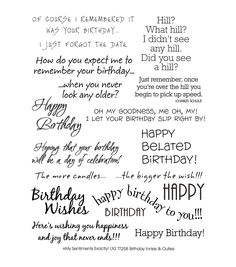 """My Sentiments Exactly Clear Stamps 6""""X8"""" Sheet-BirthdayMy Sentiments Exactly Clear Stamps 6""""X8"""" Sheet-Birthday,"""