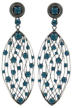 Bild für Ohrstecker baumelnd Cages blau Indikolit
