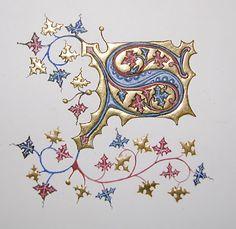 "Initial S from the ""Très riches heures du Duc de Berry"""