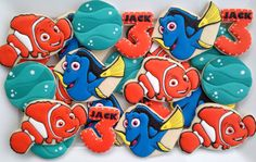 Finding Nemo Finding Dory cookies two dozen by LuxeCookie on Etsy