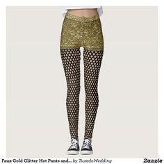 Faux Gold Glitter Hot Pants and Fishnets Leggings. Halloween Costume idea?  #madebymds #fancydress #costumeparty #halloweencostume