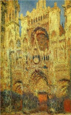 Rouen Cathedral at Sunset - Claude Monet