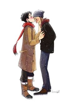 It's too cold outside. For angels to fly. #destiel #fanart #spn