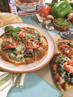 Looking for a quick, easy dinner? Try this Grilled Veggie Flatbread Pizza! Tune in to #homeandfamily weekdays at 10/9c on Hallmark Channel!