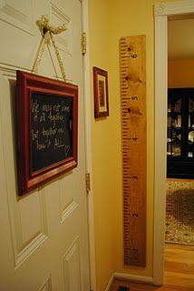 DIY growth chart. We NEED a house ♥