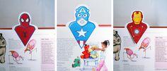 Free printable : Super heroe bookmarks / Gratuit : des marque-page super-héros