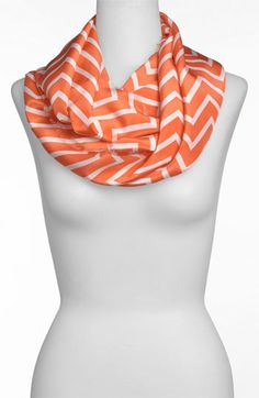 Love the pop of color + pattern of this infinity scarf.
