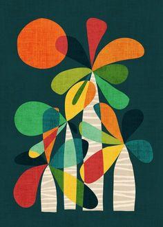 Palma Mini Art Print by budikwan Mid Century Modern Art, Mid Century Art, Designers Gráficos, Fabric Painting, Diy Art, Framed Art Prints, Art Projects, Art Drawings, Abstract Art