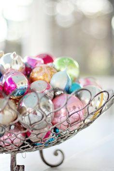 Vintage Ornament Display Ideas...