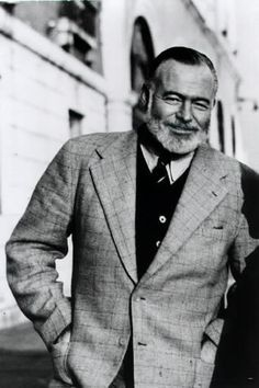 Ernest Hemingway: bearded American author and journalist for whom the bell tolls.  (Yousuf Karsh, 1957)