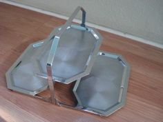 Vintage 1950s Chrome Tray Display Serving