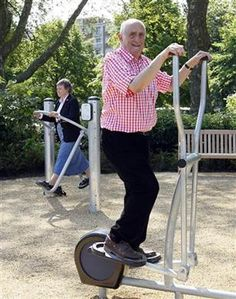 Playground for seniors opens in London - Health - Aging | NBC News (need to take pictures for mom)