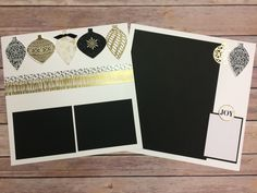 Stampin' Up!'s Embellished Ornaments & Delicate Ornament Thinlits Scrapbook Page