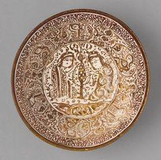 Bowl with Seated Couple, Iran, Seljuk-Atabeg period, 12th-13th century.  Harvard Art Museums/Arthur M. Sackler Museum
