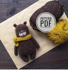 Tutorial Amigurumi, Easy Amigurumi Pattern, Crochet Teddy Bear Pattern, Cute Crochet, Crochet Toys, Crochet Instructions, Bear Toy, Crochet Projects, Knitting Patterns