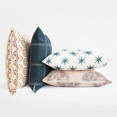 We love to fill the home with classic patterns and designs. This one by Zak and Fox is perfect because it has hand drawn characteristics that make a more relaxed version of the classic windowpane pattern. The pillowcase is complete with a chintzed finish, giving off a wax cloth effect.  Insert not included.