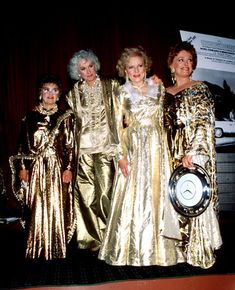 In case you need an idea for a GOLDEN outfit for New Year's Eve.. Love Golden Girls!