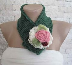 Knitted-crocheted neckwarmer-neckwrap-3