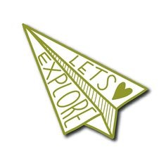 PREORDER Lets Explore Paper Airplane Enamel Pin