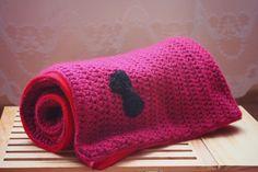 Fuchsia crochet blanket for my baby girl.  Szydełkowy kocyk w kolorze fuksji dla mojej córeczki.