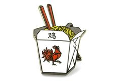 Rooster Noodle Box Pin