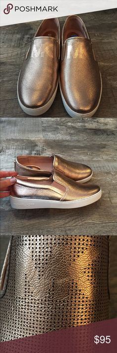 Michael kors Keaton rose gold sneakers shoes nwt Michael kors rose gold tennis shoes nwt super soft and comfortable inside . Smoke free pet free home . Only tired in in the store Michael Kors Shoes