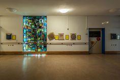 Dagmar Schulze-Ross, Glasfenster Dagmar Schulze-Ross (* 1926 Eisenach, † 2012 Kiel)