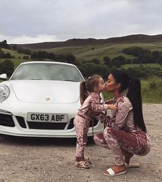 """""""I am not certain whether Daddy is taking this picture of Mommy and Me or of his car. Cute Family, Baby Family, Family Goals, Family Life, Mother Daughter Fashion, Mom Daughter, Mommy And Me Outfits, Family Outfits, Couple Outfits"""