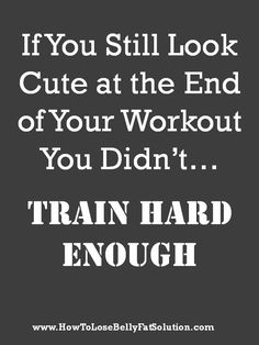 Exactly.  Just doesn't feel right until you're drenched in sweat and your face is beat red. lol