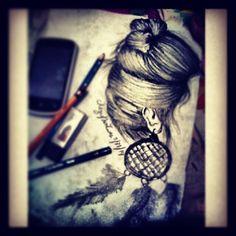 (.....) #Art? #MyArtwork #Charcoal #pencil #bored #hair #lala :3 (May 31,2014) Artworks, Charcoal, Pencil, Sketches, Drawings, Red, Hair, Painting, Art Pieces