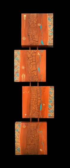 "Mixed Media Quadruvium Painting ""Quadruvium CXXXVIII"" by Arizona Artist Pat Stacy | Mixed Media Artists International | Bloglovin'"