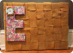 paper heart studios: DIY burlap cork board #inspirationboard #craft
