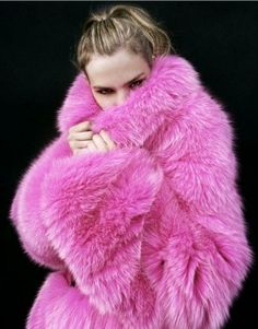 Bubble gum fox fur coat YAH PINK!!!!!!!!!!!!