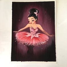 ORIGINAL ballerina painting