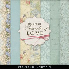 New Freebies Background Kit - Remember of Love:Far Far Hill - Free database of digital illustrations and papers