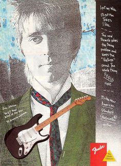 Eric Johnson in a 1980s Fender guitar ad http://guitarclass.org