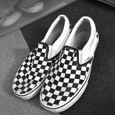 soldChecker board slip-on Yes these have been worn that is why they are priced much less then retail! But they have no holes in them everything is in place they just need a good cleaning Vans Shoes Sneakers