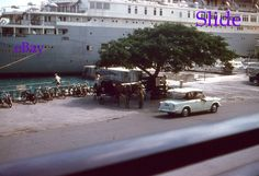 1959 35mm Slide Queen of Bermuda London Furness Lines Cruise Ship Kodachrome