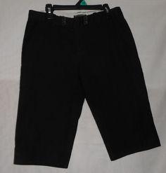Womens Size 2 Banana Republic Black Shorts Bermuda  #BananaRepublic #BermudaWalking