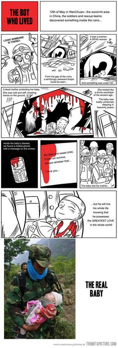 The love of a mother. True stories of the  May 12 2008 earthquake in China. See the rest at http://earthquakestrips.blogspot.com/search/label/Strips