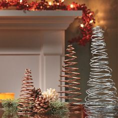 Turn craft wire into trees for a holiday decoration