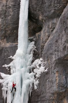 Freestanding ice column.  What an awesome climb.