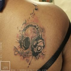 headphone tattoos - Google Search
