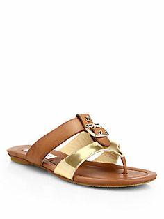 Jimmy Choo Nyssa Metallic Leather Sandals