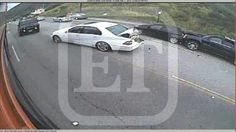 See surveillance footage from Jenner's Malibu car crash