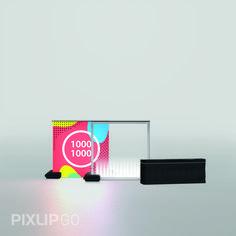 Pixlip GO Leuchttheke 1000 x 1000 mm Intelligent, hinterleuchtet und wiederverwendbar. Das GO System bietet seinen Anwendern universelle Gestaltungsfreiheit.